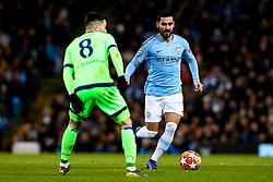 Ilkay Gundogan of Manchester City takes on Suat Serdar of Schalke - Mandatory by-line: Robbie Stephenson/JMP - 12/03/2019 - FOOTBALL - Etihad Stadium - Manchester, England - Manchester City v Schalke - UEFA Champions League, Round of 16, 2nd leg