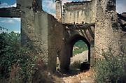 Spanje, Baskenland, 29-8-1998Verlaten dorp in de buurt van de stad Pamplona. Foto: ANP/ Hollandse Hoogte/ Flip Franssen