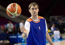 Erazem Lorbek  at practice of Slovenian National Basketball team in Arena Torwar two days before the beginning of the Eurobasket 2009, on September 05, 2009 in Warsaw, Poland. (Photo by Vid Ponikvar / Sportida)