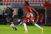 PIRAEUS, GREECE - NOVEMBER 25: Rúben Semedo of Olympiacos FC during the UEFA Champions League Group C stage match between Olympiacos FC and Manchester City at Karaiskakis Stadium on November 25, 2020 in Piraeus, Greece. (Photo by MB Media)