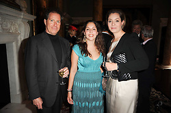 Left to right, VISCOUNT LINLEY, FELICIA BERNHEIMER and BLANCA BERNHEIMER at a party to celebrate the 250th anniversary of the Colnaghi Gallery held at Spencer House, London on 1st July 2010.