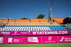 PORTOROZ, SLOVENIA - SEPTEMBER 12:   competes during the 1st Qualifying Round of WTA 250 Zavarovalnica Sava Portoroz at SRC Marina, on September 12, 2021 in Portoroz / Portorose, Slovenia. Photo by Vid Ponikvar / Sportida
