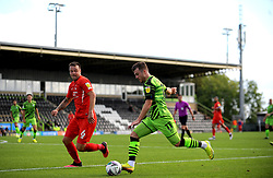 Nicky Cadden of Forest Green Rovers is held up by Josh Coulson of Leyton Orient- Mandatory by-line: Nizaam Jones/JMP - 05/09/2020 - FOOTBALL - New Lawn Stadium - Nailsworth, England - Forest Green Rovers v Leyton Orient - Carabao Cup