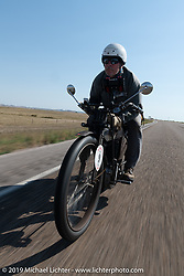Chris Tribbey rode his 1911 Excelsior model-K single cylinder class-1 bike in the Motorcycle Cannonball coast to coast vintage run. Stage 9 (294 miles) from Pierre to Sturgis, SD. Sunday September 16, 2018. Photography ©2018 Michael Lichter.