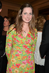 ROSE FARQUHAR at the Tusk Friends Dinner in aid of wildlife charity Tusk held at Claridge's, Brook Street, London on 11th March 2014.