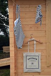Fat Face shop at Latitude Festival 2016, Henham Park, Suffolk, UK, They sponsored the lake side swimming