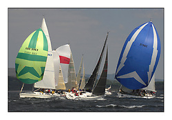 Bell Lawrie Scottish Series 2008. Fine North Easterly winds brought perfect racing conditions in this years event...GBR9963, First by Farr, Ian McNair, CCC, First 45f5..GBR9321R, Molissa, Patrick Atkinson, Pwllheli SC, Sunfast 32i..2198C Moondance