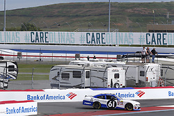 September 27, 2018 - Concord, North Carolina, United States of America - Kaz Grala (61)  spins into the wall during practice for the Drive for the Cure 200 at Charlotte Motor Speedway in Concord, North Carolina. (Credit Image: © Chris Owens Asp Inc/ASP via ZUMA Wire)
