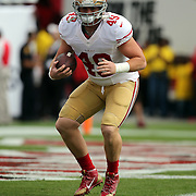 San Francisco 49ers fullback Bruce Miller (49) is seen during an NFL football game between the San Francisco 49ers  and the Tampa Bay Buccaneers on Sunday, December 15, 2013 at Raymond James Stadium in Tampa, Florida.. (Photo/Alex Menendez)