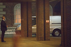 © licensed to London News Pictures. London, UK 08/04/2013. A  van believed to be carrying Margaret Thatcher's body, leaving The Ritz Hotel on Tuesday 09 April 2013. Photo credit: Tolga Akmen/LNP