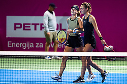 PORTOROZ, SLOVENIA - SEPTEMBER 18: Anna Kalinskaya of Russia and Tereza Mihalikova of Slovakia during the Semifinals of WTA 250 Zavarovalnica Sava Portoroz at SRC Marina, on September 18, 2021 in Portoroz / Portorose, Slovenia. Photo by Matic Klansek Velej / Sportida