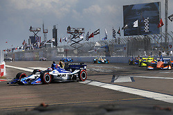 March 11, 2018 - St. Petersburg, Florida, United States of America - March 11, 2018 - St. Petersburg, Florida, USA: Takuma Sato (30) battles for position during the Firestone Grand Prix of St. Petersburg at Streets of St. Petersburg in St. Petersburg, Florida. (Credit Image: © Justin R. Noe Asp Inc/ASP via ZUMA Wire)