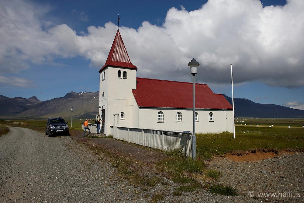 The church at Stadarstadur, Snaefellsnes, Iceland - Kirkjan að Staðarstað á Snæfellsnesi