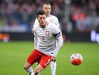 2016.03.23 Poznan<br /> Pilka Nozna Reprezentacja Mecz towarzyski<br /> Polska - Serbia<br /> N/z Robert Lewandowski<br /> Foto Rafal Rusek / PressFocus<br /> <br /> 2016.03.23 Poznan<br /> Football Friendly Game<br /> Poland - Serbia<br /> Robert Lewandowski<br /> Credit: Rafal Rusek / PressFocus
