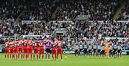 Liverpool and Newcastle teams hold a minutes silence - Barclays Premier League - Newcastle Utd vs Liverpool - St James' Park Stadium - Newcastle Upon Tyne - England - 1st November 2014  - Picture Simon Bellis/Sportimage