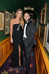 VOGUE WILLIAMS and RICKY GIBBS at a dinner to celebrate the 125th anniversary of the Dog's Trust held at Annabel's, Berkeley Square, London on 1st November 2016.