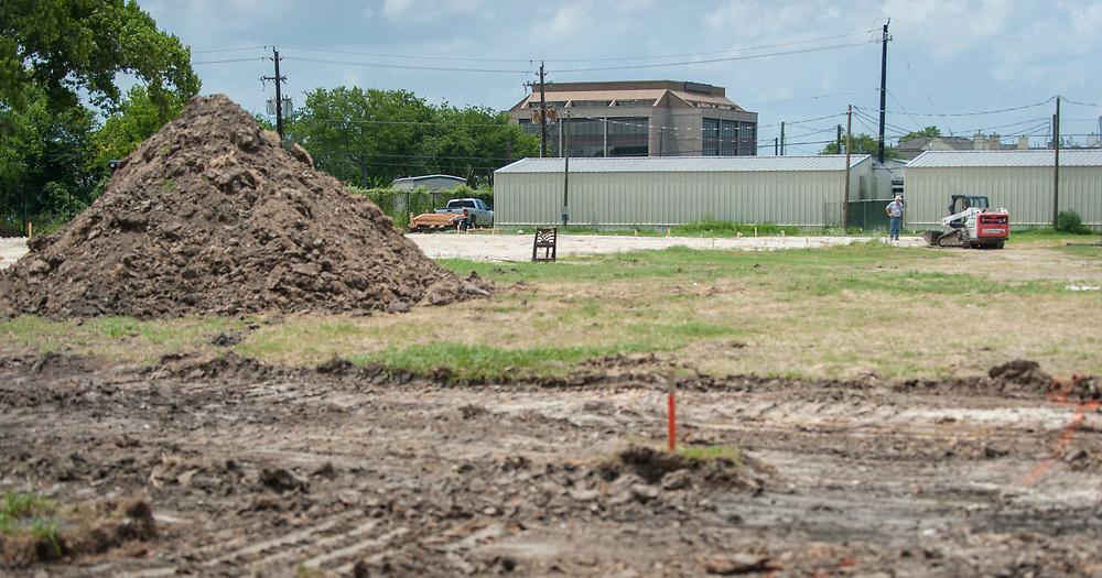 Construction at Pilgrim Academy, June 14, 2017.