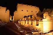 Sound and Light Show  Temple of Amun at Karnak  Luxor, Egypt