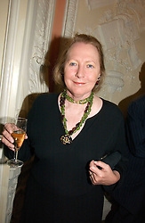 Writer SARAH BRADFORD she is Lady Bangor, at a party to celebrate the publication of 'A History of The English Speaking Peoples Since 1900' hosted by Andrew Roberts and Susan Gilchrist at the English-Speaking Union, 37 Charles Street, London W1 on 11th September 2006.<br />