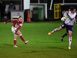 Aimee Palmer of Bristol City Women has a shot on goal - Mandatory by-line: Ryan Hiscott/JMP - 13/01/2021 - FOOTBALL - Twerton Park - Bath, England - Bristol City Women v Aston Villa Women - FA Continental Cup quarter final