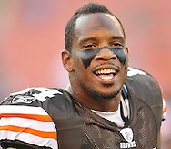 Cleveland Browns' Robert Royal before a preseason NFL football game against the Tennessee Titans on Saturday, August 29, 2009, at Cleveland Browns Stadium in Cleveland, Ohio. (AP Photo/David Richard)