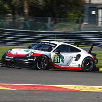 #91, Porsche Motorsport, Porsche 911 RSR, LMGTE Pro, driven by: Richard Lietz, Gianmaria Bruni, FIA WEC 6hrs of Spa 2018, 03/05/2018,