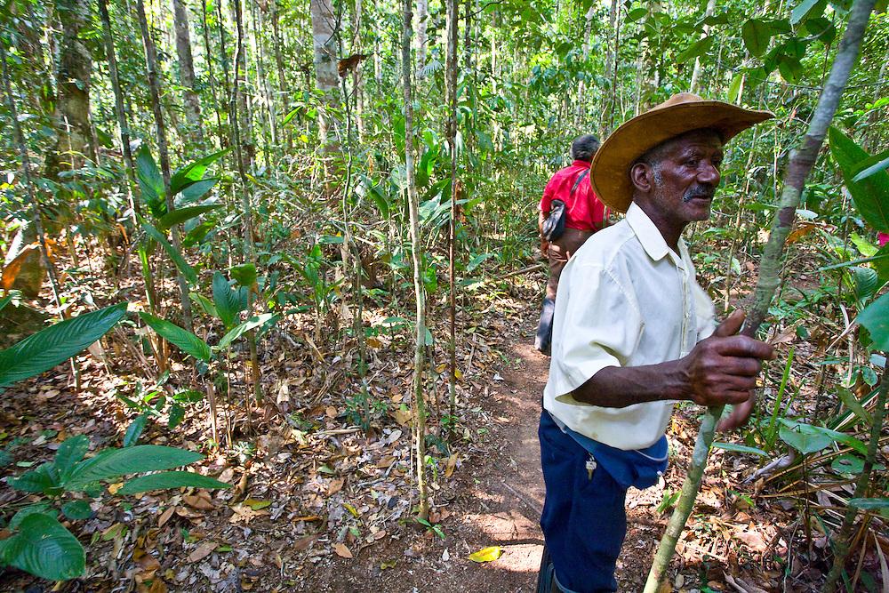 Porto Seguro_BA, Brasil...Homem em uma Reserva Particular do Patrimonio Natural (RPPN)...A man in a Private Reserve of Natural Heritage (RPPN)...Foto: JOAO MARCOS ROSA / NITRO.