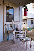 Guest shacks hotel room at The Shack Up Inn cotton sharecroppers theme hotel in Clarksdale, Blues birthplace, Mississippi USA