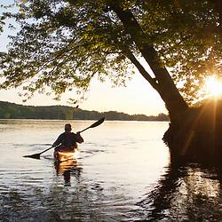 Paddling the Potomac Near Seneca Breaks