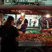 Thai hawker food on Bangla Road, Phuket, Thailand