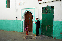 Maroc, Tanger, porte dans la Medina // Morocco, Tangier (Tanger), door on the old city, Medina