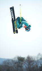 February 18, 2018 - Pyeongchang, South Korea - RUSSELL HENSHAW of Australia competes in the Mens Ski Slopestyle qualifier Sunday, February 18, 2018 at Phoenix Snow Park at the Pyeongchang Winter Olympic Games.  Photo by Mark Reis, ZUMA Press/The Gazette (Credit Image: © Mark Reis via ZUMA Wire)