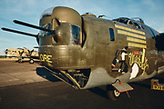 """Collings Foundation B-24J Liberator """"Witchcraft"""" at McNary Field."""