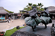 Hula dancer sculptures at Kona International Airport. Big Island, Hawaii RIGHTS MANAGED LICENSE AVAILABLE FROM www.PhotoLibrary.com