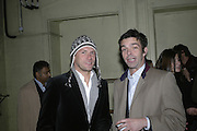 Rory Howard and Elliot McDonald, Potential and Ground. 1 Chiltern St. London. 7 February 2007.  -DO NOT ARCHIVE-© Copyright Photograph by Dafydd Jones. 248 Clapham Rd. London SW9 0PZ. Tel 0207 820 0771. www.dafjones.com.