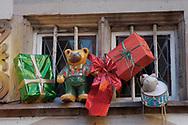 Strasburg - France -  Christam decorations on buildingd