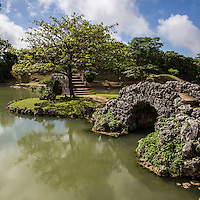 Shikina-en offers a rare chance to escape the crowds, shopping and concrete of Okinawa's largest city.  Shikinaen Garden and Palace were constructed at the end of the 18th century as a second home for the royal family of Okinawa and to entertain VIP guests.  Designed as a strolling garden, it is meant to be walked around rather than viewed from one particular point. The garden incorporates both Japanese and Chinese aspects of gardening combined with tropical plants, which makes it uniquely Okinawan.