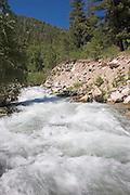 Vertical of Rio Hondo River, Taos County, New Mexico