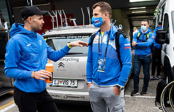 Luka Mezgec and Andrej Hauptman of Team Slovenia after the Men Elite Road Race at UCI Road World Championship 2020, on September 27, 2020 in Imola, Italy. Photo by Vid Ponikvar / Sportida