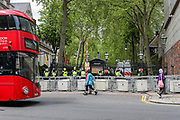 London, United Kingdom, May 22, 2021: General pictues shows how the neighborhood outide the Israeli Embassy in London looked like ahead of a group of pro-Palestinian protesters arrival on Saturday, May 22, 2021. Egyptian mediators held talks on Saturday to firm up an Israel-Hamas cease-fire as Palestinians in the Hamas-ruled Gaza Strip began to assess the damage from 11 days of intense Israeli bombardment. Fresh clashes broke out at the Al-Aqsa Mosque compound in Jerusalem on Friday, just hours after a cease-fire between Israel and the Palestinian militant group Hamas took effect. (Photo by Vudi Xhymshiti/VXP)
