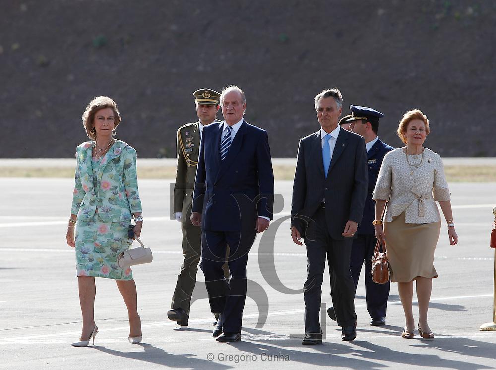 VISITA DOS REIS DE ESPANHA-  JUAN CARLOS E RAINHA SOFIA   E DO PRESIDENTE DA REPUBLICA CAVACO SILVA A MADEIRA.FOTO GREGORIO CUNHA