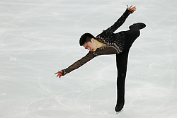 The XXII Winter Olympic Games 2014 in Sotchi, Olympics, Olympische Winterspiele Sotschi 2014<br /> Figure skating men short program in the Sochi 2014 Winter Olympics on February 6, 2014 in Sochi, Russia<br /> Patrick Chan (Canada) before performing his short program during the men's team figure skating competition at the XXII Olympic Winter Games in Sochi, ice skating