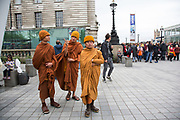 Tibetan monks visiting the Southbank. The South Bank is a significant arts and entertainment district, and home to an endless list of activities for Londoners, visitors and tourists alike.