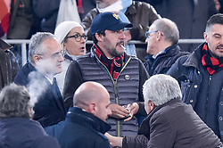 February 26, 2019 - Rome, Rome, Italy - Matteo Salvini Minister of the Interior during the Italian Tim Cup Semi-Final match between Lazio and AC Milan at Stadio Olimpico, Rome, Italy on 26 February 2019. (Credit Image: © Giuseppe Maffia/NurPhoto via ZUMA Press)