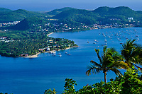 France, Martinique, la Baie du Marin, vue depuis le Morne Gommier / France, West Indies, Martinique, the Bay of Marin, view from Morne Gommier