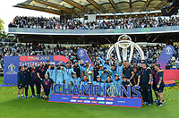 Cricket - 2019 ICC Cricket World Cup - Final: England vs. New Zealand<br /> <br /> England's Eoin Morgan with the World Cup trophy after they defeat New Zealand in a Super Over after the scores were tied, at Lords.<br /> <br /> COLORSPORT/ASHLEY WESTERN