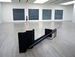 Sculpture Away by Anthony Caro at art museum K20 or Kunstsammlung at Grabbeplatz Dusseldorf Germany