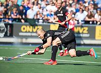UTRECHT -  Justin Reid-Ross (A'dam)   tijdens   de finale van de play-offs om de landtitel tussen de heren van Kampong en Amsterdam (3-1). Kampong kampioen van Nederland. COPYRIGHT  KOEN SUYK