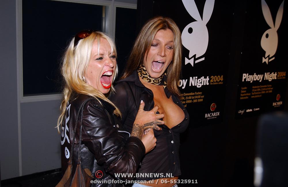 Playboy Night 2004, Kelly van der Veer en Louise van Teylingen