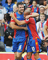 Football - 2016 / 2017 Premier League - Crystal Palace vs Stoke City<br /> <br /> Scott Dann of Crystal Palace celebrates scoring goal no 2 with Andros Townsend at Selhurst Park<br /> <br /> <br /> Credit : Colorsport / Andrew Cowie